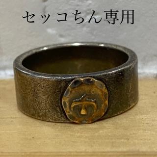 goro's - goro's ゴローズ平打ちリング 毛彫り ネーム入り 19号