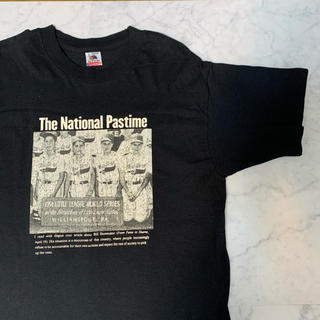 90s USA製 The National Pastime  Tシャツ(Tシャツ/カットソー(半袖/袖なし))