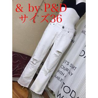 &byP&D - &by P&D 白ダメージ加工デニム サイズ36