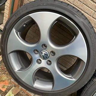 フォルクスワーゲン(Volkswagen)のゴルフⅤ.Ⅵ『デトロイト-Detroit』225/40r18 4本(タイヤ・ホイールセット)