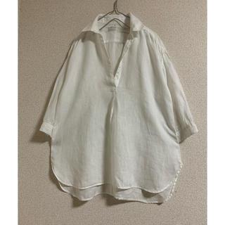 MUJI (無印良品) - 無印良品 リネン100% シャツ 七分袖 M