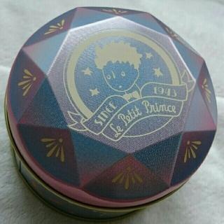 未使用 星の王子さま キツネ 羊 薔薇 小物入れ スチール缶(キャラクターグッズ)