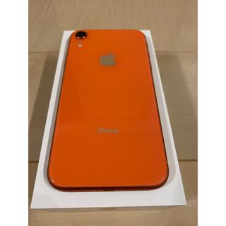 アイフォーン(iPhone)のiPhone XR RED 128GB コーラル 美品(スマートフォン本体)