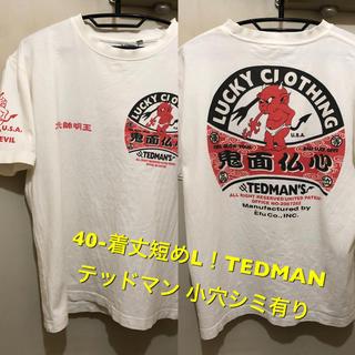 テッドマン(TEDMAN)の40-着丈短めL!TEDMAN テッドマン 古着半袖Tシャツ 小穴シミ有り(Tシャツ/カットソー(半袖/袖なし))