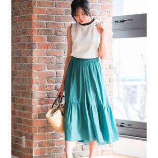 アナイ(ANAYI)のアナイ  ライトローンティアードスカート☆新品タグ付き(ロングスカート)