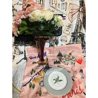 クリスチャンディオール(Christian Dior)のレア ビンテージ 花瓶 フォトフレーム 薔薇 ミニチュア クリスチャンディオール(食器)