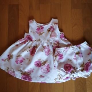 ニシマツヤ(西松屋)の花柄 ベビードレス(セレモニードレス/スーツ)