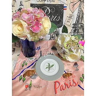 クリスチャンディオール(Christian Dior)のレア ミニチュア アライグマ 薔薇 花瓶 クリスチャンディオール プレート(食器)