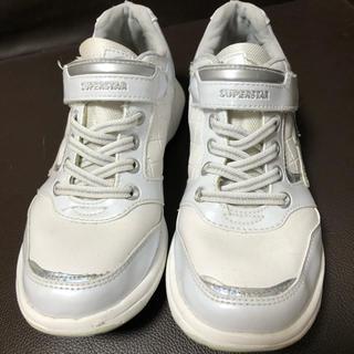 ムーンスター(MOONSTAR )の白靴 マジックテープ(スニーカー)