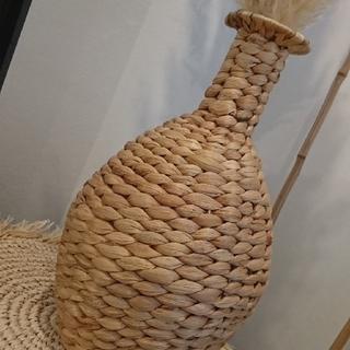 ザラホーム(ZARA HOME)のラタン  フラワーベース  花瓶  バリ アジアン(花瓶)