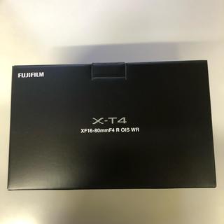 フジフイルム(富士フイルム)のX-T4-S ミラーレス一眼カメラ XF16-80mm レンズキット シルバー(ミラーレス一眼)
