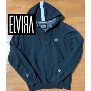 エルヴィア(ELVIA)の【激レア】ELVIRA アノラックパーカー ブラック×ホワイト(パーカー)