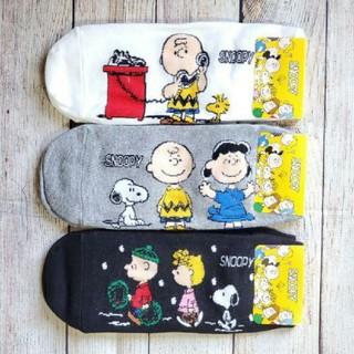 SNOOPY - 【送料込み】新作♪激かわ♡スヌーピー靴下3足セット(黒白グレー)