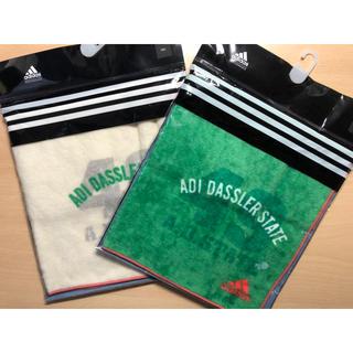 アディダス(adidas)の【新品】ハンドタオル 2枚組 adidas(タオル/バス用品)