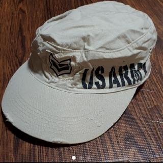 LDS - LDS ベージュ ミリタリーキャップ ミリタリー キャップ キャスケット 帽子