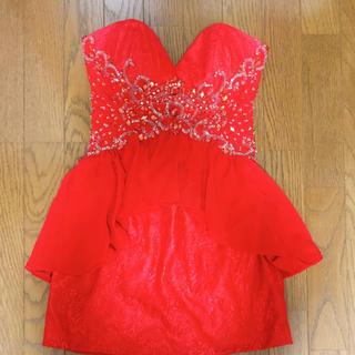 エンジェルアール(AngelR)のliplile リップライン 赤のベアドレス(ナイトドレス)