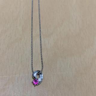ネックレス 18k ルビー ダイヤモンド(ネックレス)