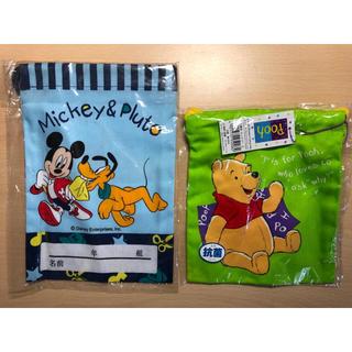 ディズニー(Disney)の【新品】ディズニー 巾着袋 2袋セット(ランチボックス巾着)
