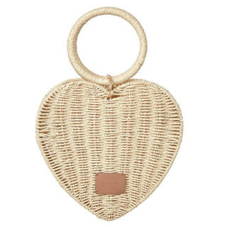 her lip to Heart Shaped Basket Bag  (かごバッグ/ストローバッグ)