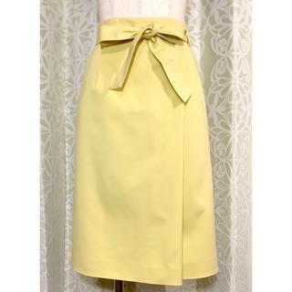 アナイ(ANAYI)のアナイ(ANAYI) イエローリボンスカート(ひざ丈スカート)