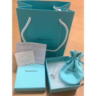 ティファニー(Tiffany & Co.)のTiffany ティファニー ネックレス ダブルオープンハート エレクトラミニ(ネックレス)