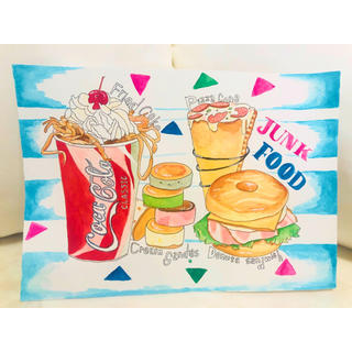 super junk food ★ 【原画】(絵画/タペストリー)