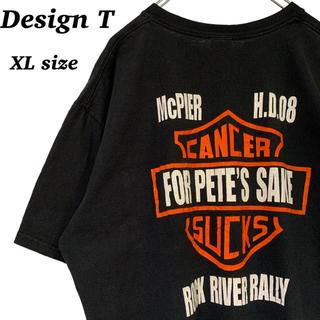 アンビル(Anvil)のUS 古着 両面プリント 胸ポケット 半袖 Tシャツ XLサイズ 黒(Tシャツ/カットソー(半袖/袖なし))