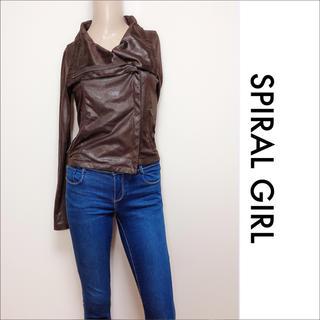 SPIRAL GIRL - SPIRAL GIRL レザーライクジャケット♡マウジー SLY ジーナシス
