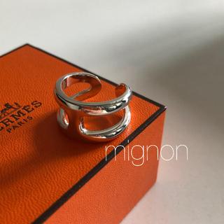 Hermes - シルバー925  silver 925  デザインリング 《osmose》