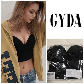 GYDA - 新品 GYDA リブベアビスチェ ベアトップ ブラック