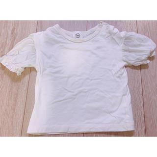 エーキャンビー(A CAN B)の白 Tシャツ AcanB 90サイズ フリル(Tシャツ/カットソー)