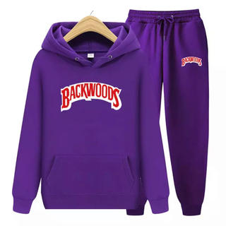 BACKWOODS セットアップ スウェット パーカー 紫