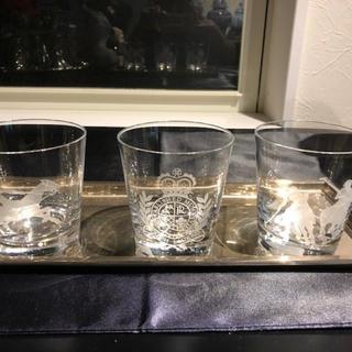 ラルフローレン(Ralph Lauren)のRALPH LAUREN 銀のトレーグラスセット(置物)