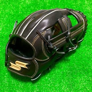SSK - 新品 湯もみ型付け済 SSK プロエッジ 硬式用 内野手用 グローブ ブラック