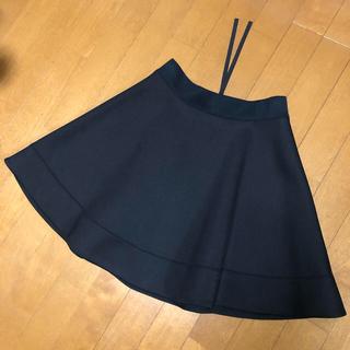 ケイトスペードニューヨーク(kate spade new york)の新品未使用 ケイトスペード  黒フレアスカート(ひざ丈スカート)