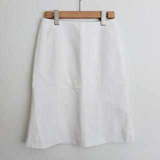 アナイ(ANAYI)の【38】ANAYI ◇白 ホワイト タイトスカート(ひざ丈スカート)