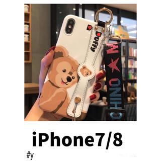 ダッフィー(ダッフィー)のダッフィー⭐︎ベルト付き iPhone7 iPhone8 ケース カバー スマホ(iPhoneケース)