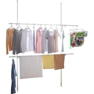 アイリスオーヤマ 洗濯物干し 室内物干し 窓枠物干し 伸縮タイプ 幅110~19(マガジンラック)
