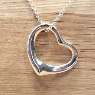 ティファニー(Tiffany & Co.)の美品 ティファニー 現行 洗浄済 オープンハート ネックレス SV シルバー(ネックレス)