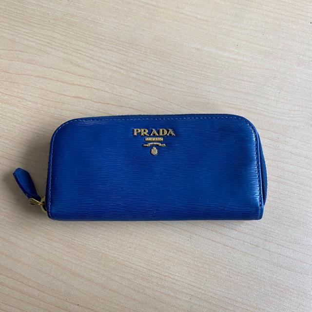 PRADA(プラダ)のプラダ キーケース  ネイビー ブルー 財布 バッグ 名刺入れ カードケース レディースのファッション小物(キーケース)の商品写真