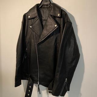 マウジー(moussy)の定価4万 即日発送 新品 本革ダブルライダースジャケット dude9(ライダースジャケット)