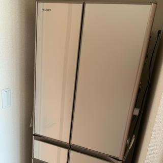 ヒタチ(日立)の【カップル向け超美品】僅か2ヵ月のみ使用した6ドアハイスペック冷蔵庫(冷蔵庫)
