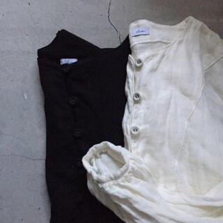 ネストローブ(nest Robe)のcheer チアー Wガーゼ リネン pullover プルオーバー(シャツ/ブラウス(長袖/七分))