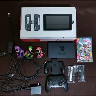 ニンテンドースイッチ(Nintendo Switch)のNintendo Switch 本体 グレー 中古 スプラトゥーン(家庭用ゲーム機本体)