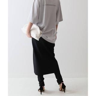 FRAMeWORK - 【新品タグ付き】FRAMeWORKリブレギンス付きスカート ブラック