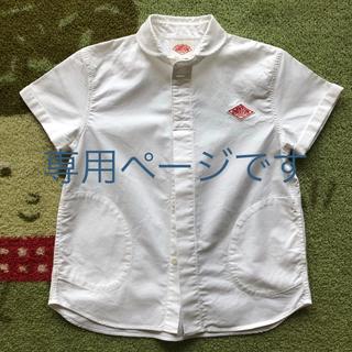 DANTON - DANTON 丸襟シャツ 半袖