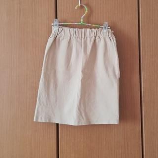 ゴゴシング(GOGOSING)のベージュのスリットタイトスカート(ミニスカート)