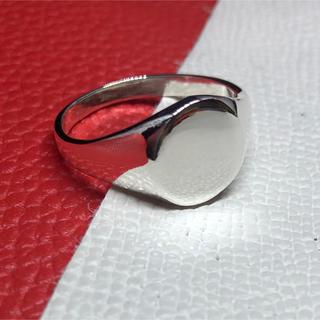 オーバル 印台 シルバー925リングシグネット メンズ 銀 ハンコギフトシンプル(リング(指輪))