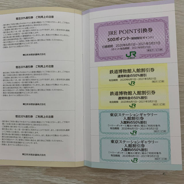 JR(ジェイアール)のJR東日本 株主優待券 チケットの優待券/割引券(その他)の商品写真