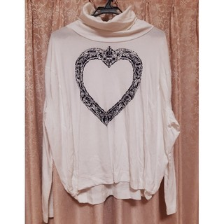ヴィヴィアンウエストウッド(Vivienne Westwood)の美品 ヴィヴィアンウエストウッド 額縁ハート ハイネック カットソー(Tシャツ(長袖/七分))